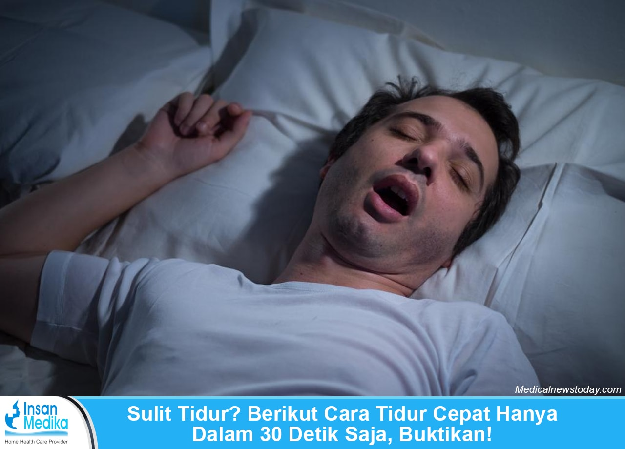 Cara tidur cepat 30 detik