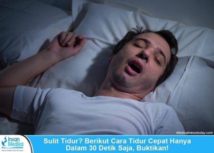 Sulit Tidur? Berikut Cara Tidur Cepat 30 Detik, Buktikan!