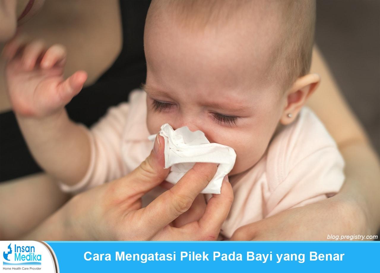 Cara mengatasi pilek pada bayi