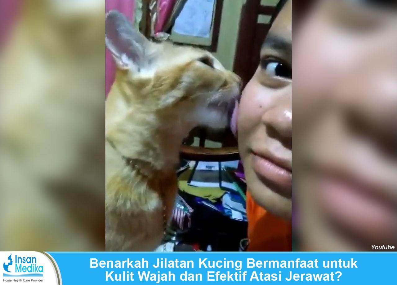 Benarkah jilatan kucing mempunyai manfaat untuk membuat kulit wajah menjadi sehat dan anti jerawat?