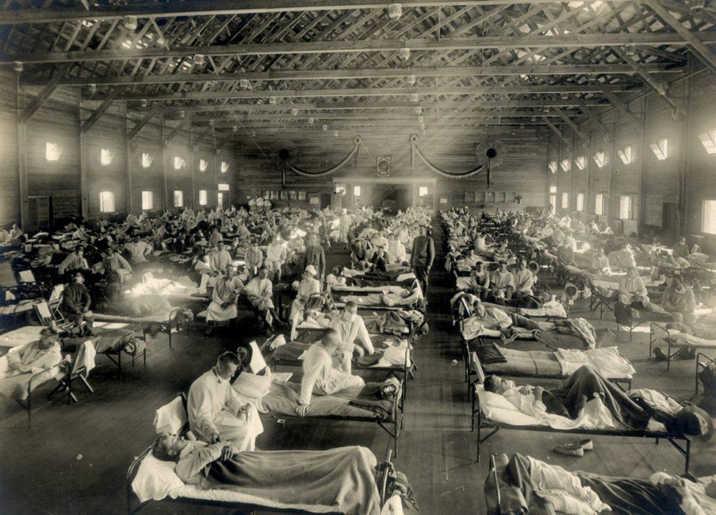 Wabah virus flu spanyol paling mengerikan di dunia